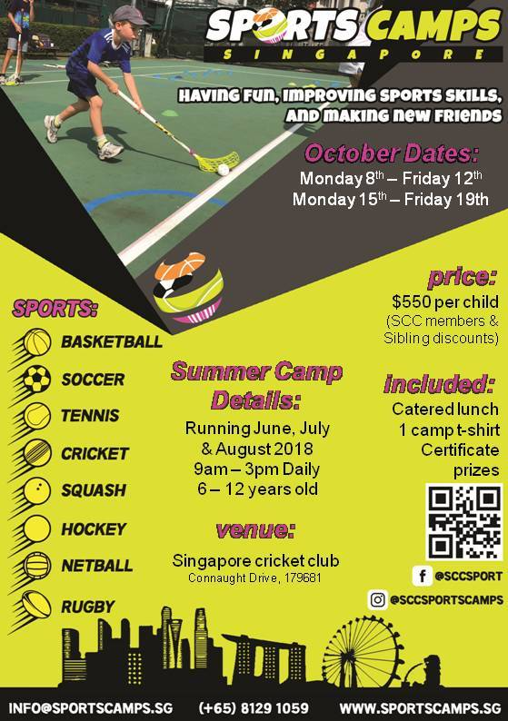 Singapore Cricket Club Sports Camp 2018