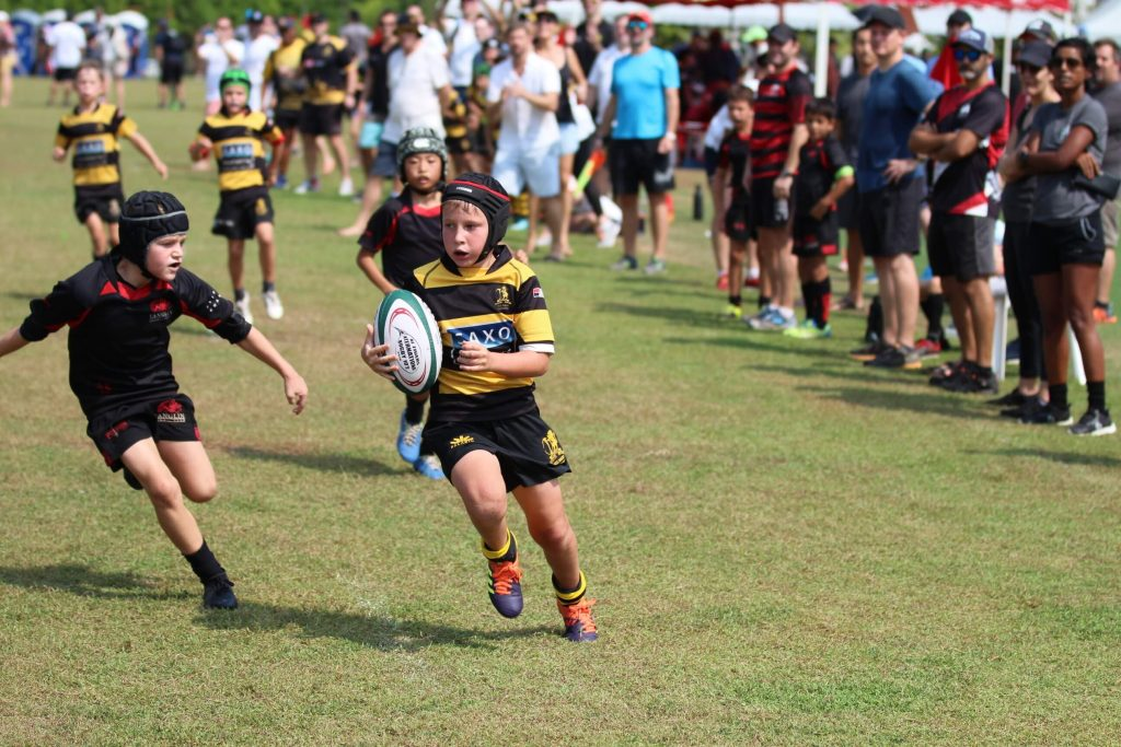 SCC Rugby Academy U9 March against TRC