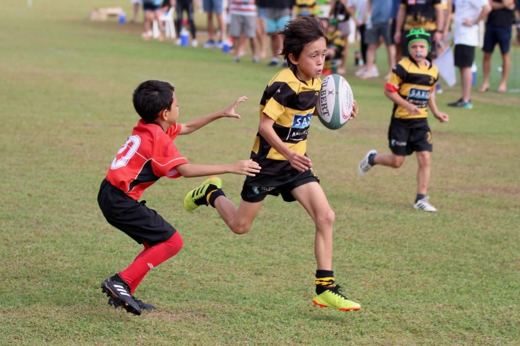 SCC Rugby Academy U9 Scoring a try